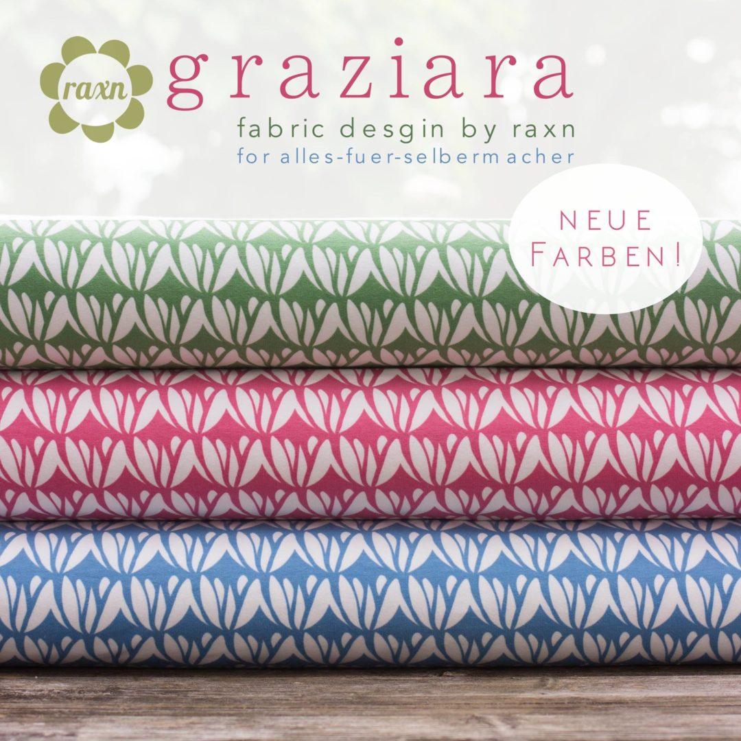 neue eigenproduktion raxn graziara in neuen farben blog alles fuer selbermacher. Black Bedroom Furniture Sets. Home Design Ideas
