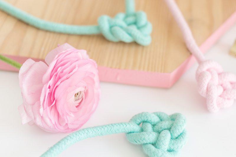 DIY Tutorial: Knotenkette aus Kordel selbermachen