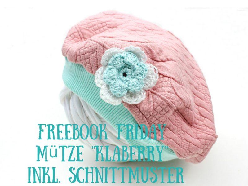 Freebook Friday Mütze %22Klaberry%22 inkl. Schnittmuster – Blog ...