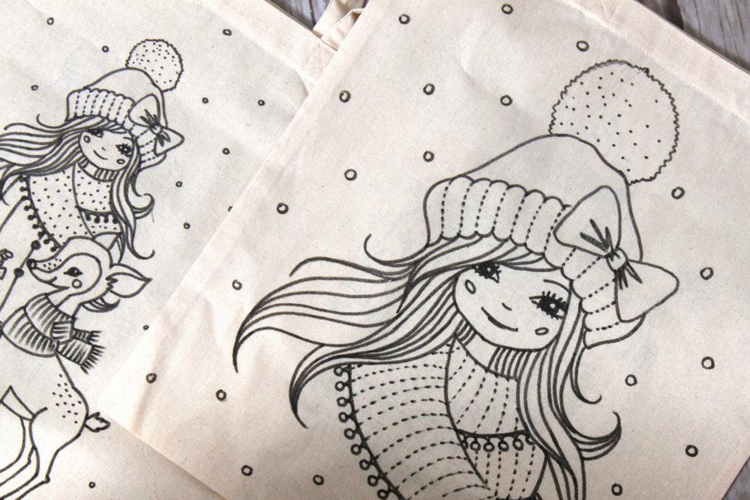 Adventskalender Türchen Nr 2 Malen Mit Textilmarkern