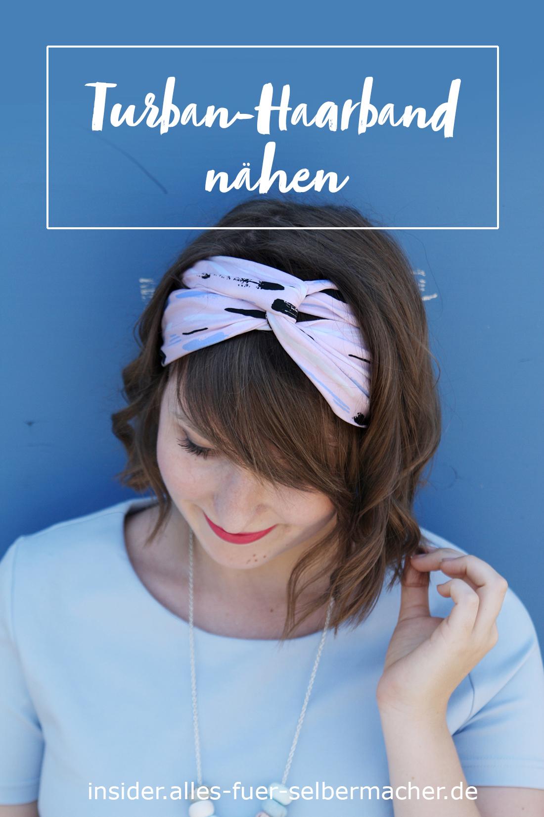 Turban Haarband nähen | Blog • alles-fuer-selbermacher