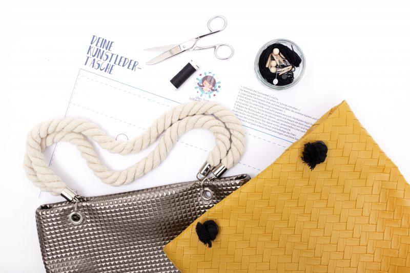 DIY – Henkeltasche aus Kunstleder | Mit Vorlage zum ausdrucken